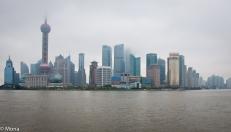 Shanghai in mist