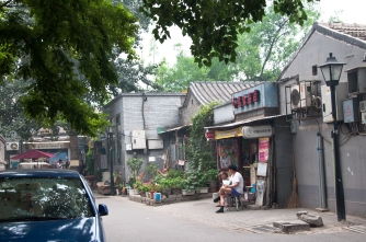 Just passing the time in the Hutong