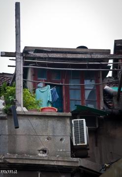 An apartment above a shop