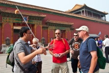 Beijing: My tour guide through the Forbidden City...I'd been in the country only two days and was still afraid that I'd get lost, but he made sure that I was safe. His English is nearly flawless and his talks were informative and interesting.