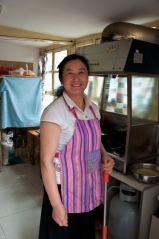 Beijing: She cooked my delicious meal when I dined in a private residence in the Hutong area.