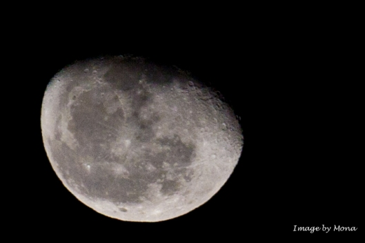 Tonight's Moon: ISO 100, 200 mm, f/8.0 at 1/250 sec
