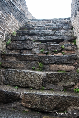 Imagine the hands that labored to build these steps on the top of the mountain, a half-day hike from the base.