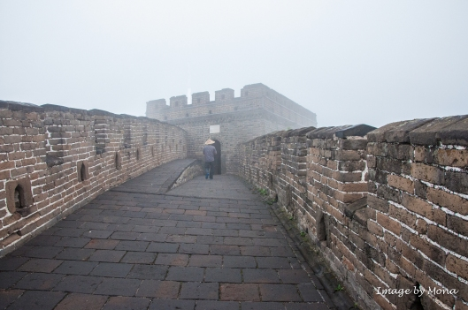 The Great Wall at Mutianyu was rebuilt during the Ming Dynasty in the 16th century upon the foundations of the wall built during the Northern Qi Dynasty (AD 550-77).