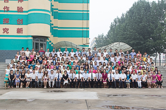 Our participants and the people of the education bureau and the four of us American trainers.