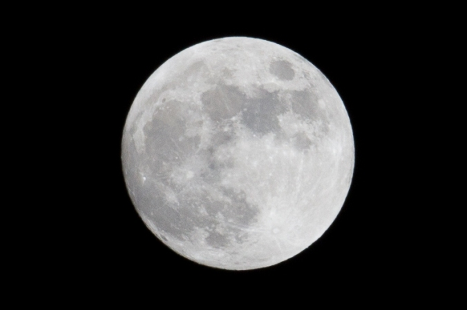 It will be a full moon tomorrow night.